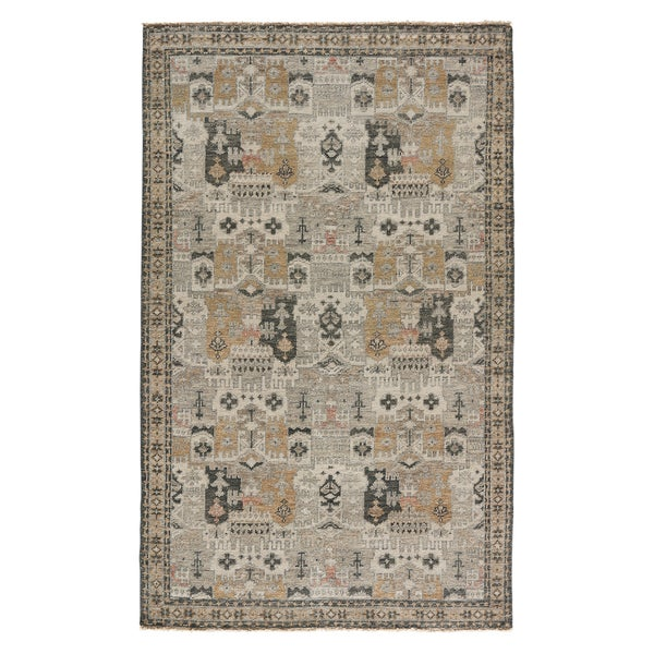 Shop Hand Knotted Oriental Yellow Gold Area Rug 8 X 10