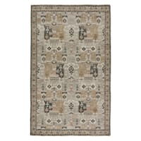 Hand-Knotted Oriental Yellow/Gold Area Rug (8' X 10') - 8' x 10'