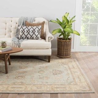 Alastair Handmade Medallion Beige/ Gray Area Rug (8' X 11')
