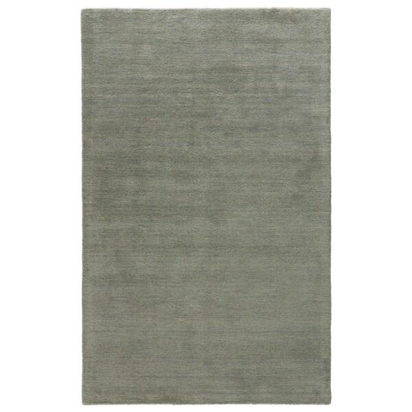 Constanz Handmade Solid Gray Area Rug (8' X 11')