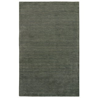 Constanz Handmade Solid Brown Area Rug (9' X 13')