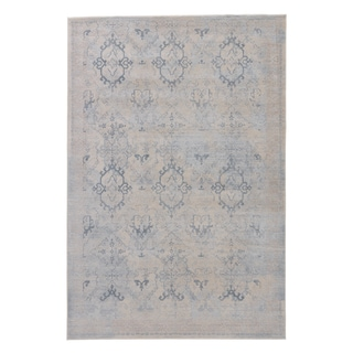 "Samira Damask Gray/ Blue Area Rug (7'6"" X 9'6"")"