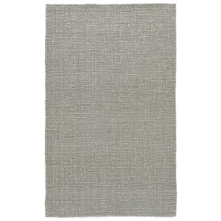Mandeville Natural Solid Gray Area Rug (9' X 12')