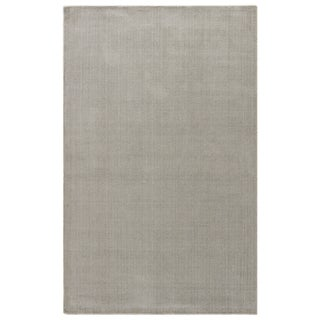 Solids & Heather Pattern Grey/ Silver Wool and Viscose Area Rug (8' x 11')