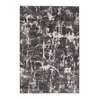 "Venture Abstract Gray/ Black Area Rug (7'6"" X 9'6"") - 7'6 x 9'6"
