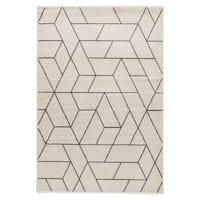 "Ransom Geometric White/ Gray Area Rug (7'10""X9'6"")"