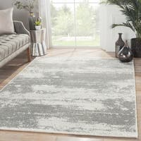 """London Abstract Gray/ White Area Rug (7'10""""X9'6"""")"""