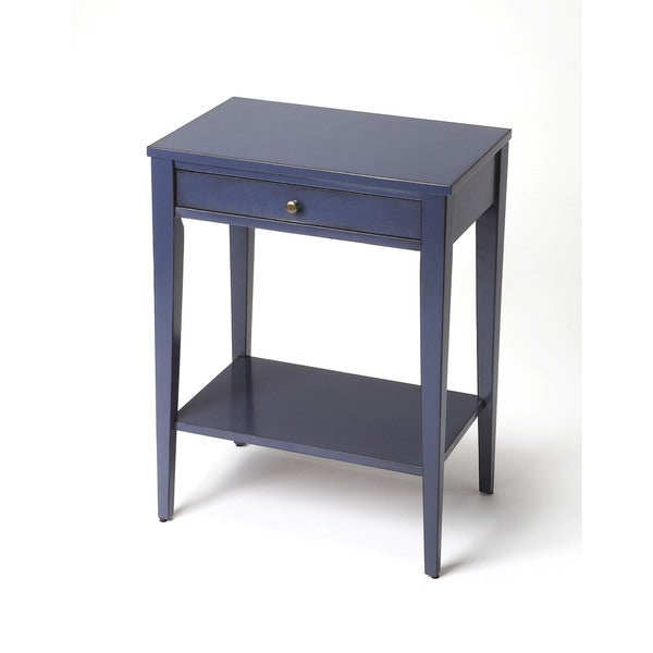 shop butler cobble hill navy blue console table free shipping today 12088583. Black Bedroom Furniture Sets. Home Design Ideas