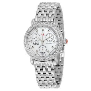 Michele Women's MWW03S000002 'CSX' Chronograph Diamond Stainless Steel Watch
