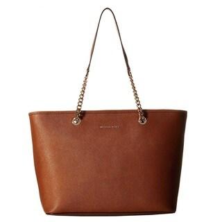 Michael Kors Jet Set Chain Luggage Brown Tote Bag