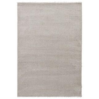 "Finn Solid White/ Gray Area Rug (7'10""X9'6"")"