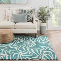 Havenside Home Cannon Indoor/ Outdoor Floral Teal/ Cream Area Rug - 7'6 x 9'6