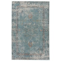 Ranya Medallion Teal/ White Area Rug - 9' X 12'