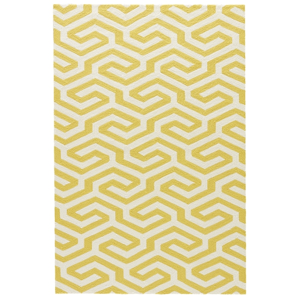 Indoor outdoor Geometric Pattern Yellow White