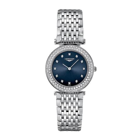 Longines Women's L43080976 'La Grandes Classiques Flagship' Diamond Stainless Steel Watch