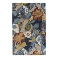 Clemente Handmade Floral Multicolor/ Taupe Area Rug (8' X 10')