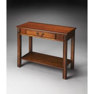 Butler Sheridan Olive Ash Burl Console Table