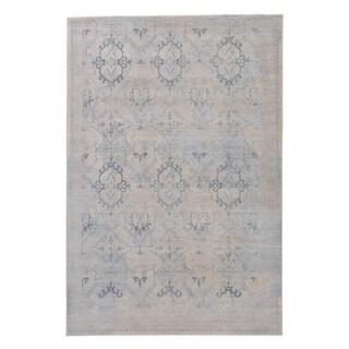 Modern Vintage Look Pattern Grey/ Neutral Polypropylene Area Rug (5' x 8')