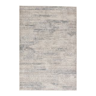 "Windsor Damask Taupe/ Gray Area Rug (5' X 7'6"")"