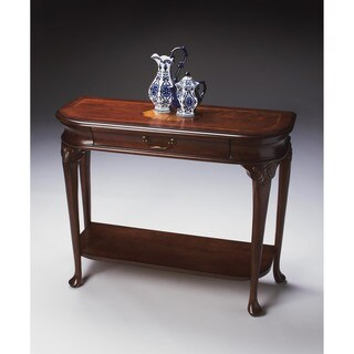 Butler Traditional Rectangular Console Table with Drawer - Dark Brown