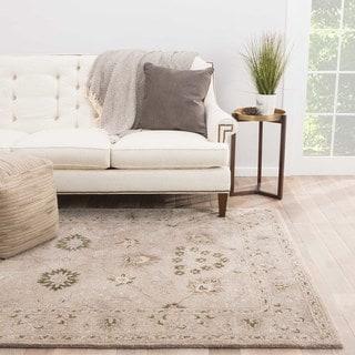 Classic Oriental Pattern Neutral/ Brown Wool Area Rug (5' x 8')