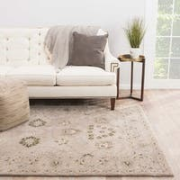 Ophelia Handmade Floral Taupe/ Green Area Rug (5' X 8')