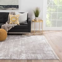 "Vianne Abstract Gray Area Rug (5'3"" X 7'6"")"
