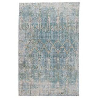 Celestia Trellis Teal/ Gray Area Rug (5' X 8')