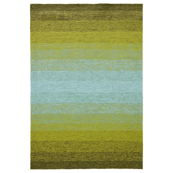 Lime Green Outdoor Area Rug: Channel Indoor/ Outdoor Ombre Lime Green/ Turquoise Area