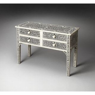 Butler Vivienne Black Bone Inlay Console Table