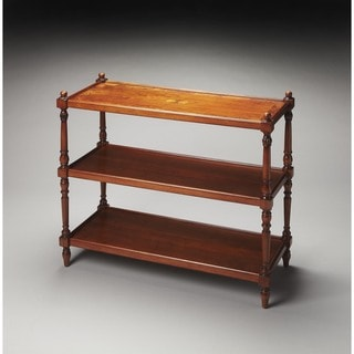 Butler Rothwell Olive Ash Burl 3-Tier Console Table