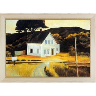Edward Hopper 'Cape Cod in October, 1946' Hand Painted Framed Canvas Art