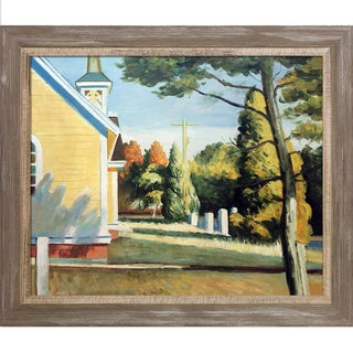Edward Hopper 'Church in Eastham, 1935' Hand Painted Framed Canvas Art