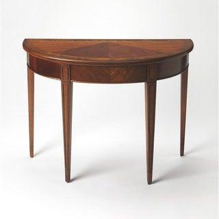 Butler Hampton Olive Ash Burl Demilune Console Table