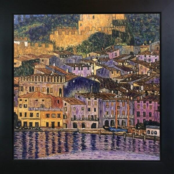 Gustav Klimt 'Malcesine on Lake Garda,1913' Hand Painted Framed Canvas Art