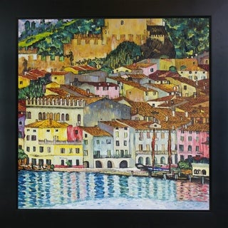 Gustav Klimt 'Malcesine on Lake Garda,1913' Hand Painted Framed Canvas Art