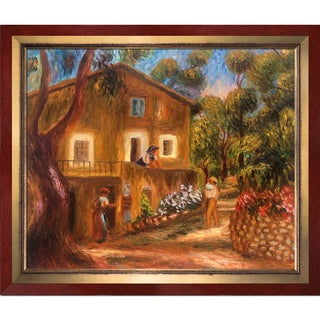 Pierre-Auguste Renoir 'House in Collett at Cagnes, 1912' Hand Painted Framed Canvas Art