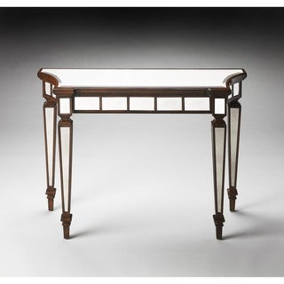 Butler Garbo Mirror And Mahogany Console Table