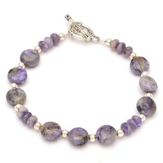 Healing Stones for You Charoite Disc Bracelet (USA)