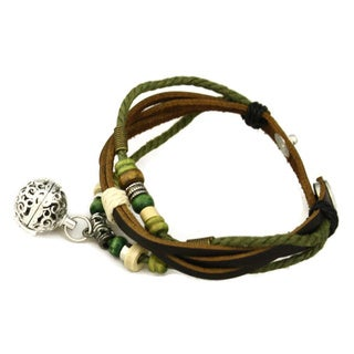 """Forest"" Essential Oil Diffuser Brown Leather Bracelet"
