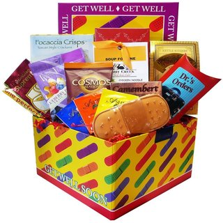 Get Well Soon Bandaid Care Package Gift Basket Box - get-well-bandaid-box