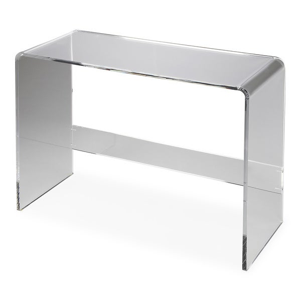 acrylic console table cb2 uk butler crystal clear ikea