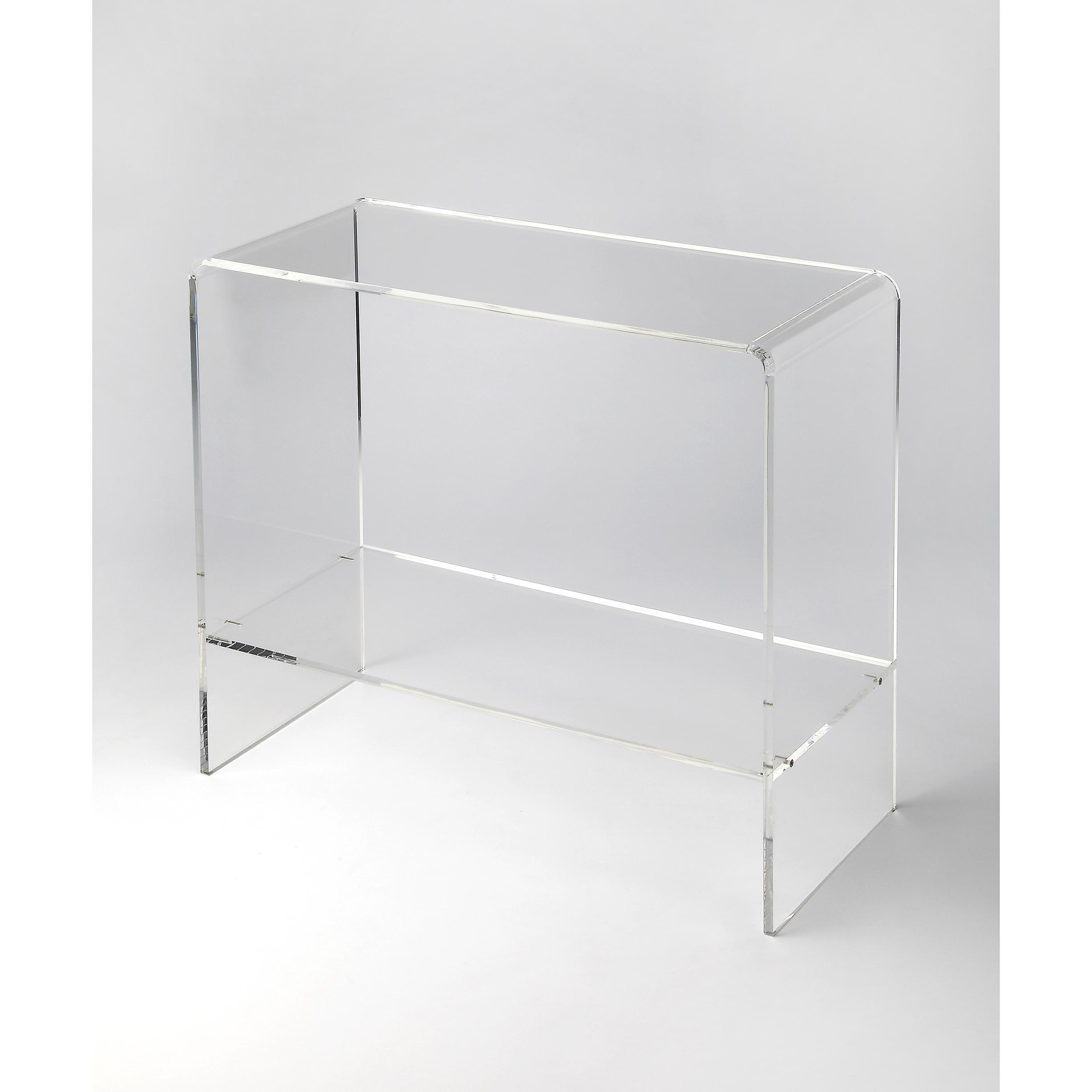 Handmade Butler Crystal Clear Acrylic Console Table (Taiwan)