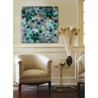 "Studio Works Modern ""Popcorn Floral"" Gallery-Wrapped Canvas Wall Art"