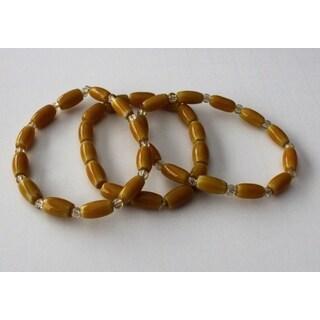 Chevron glass Bead Bracelet