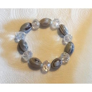 Stripped Agate Stretch Bracelet