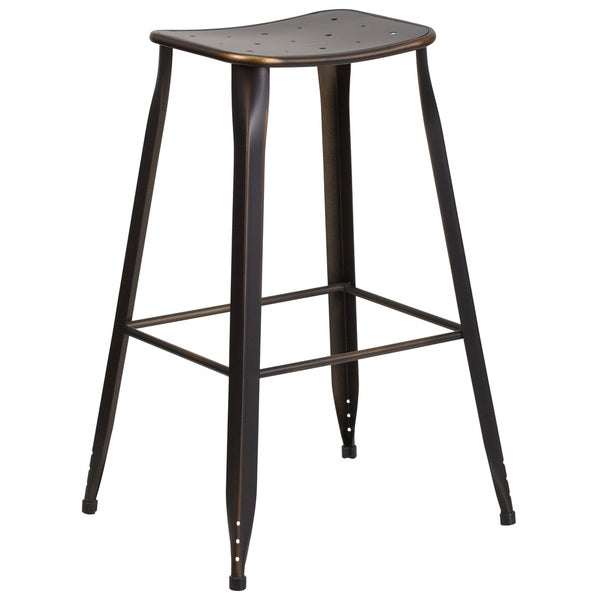 30 Inch Copper Metal Indoor Outdoor Barstool Free