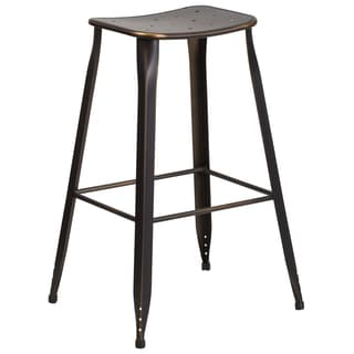 30-inch Copper Metal Indoor-Outdoor Barstool