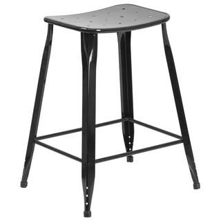 24-inch Metal Indoor-Outdoor Counter Height Stool