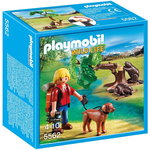 Playmobil Wild Life Beavers with Backpacker 5562 Play Set